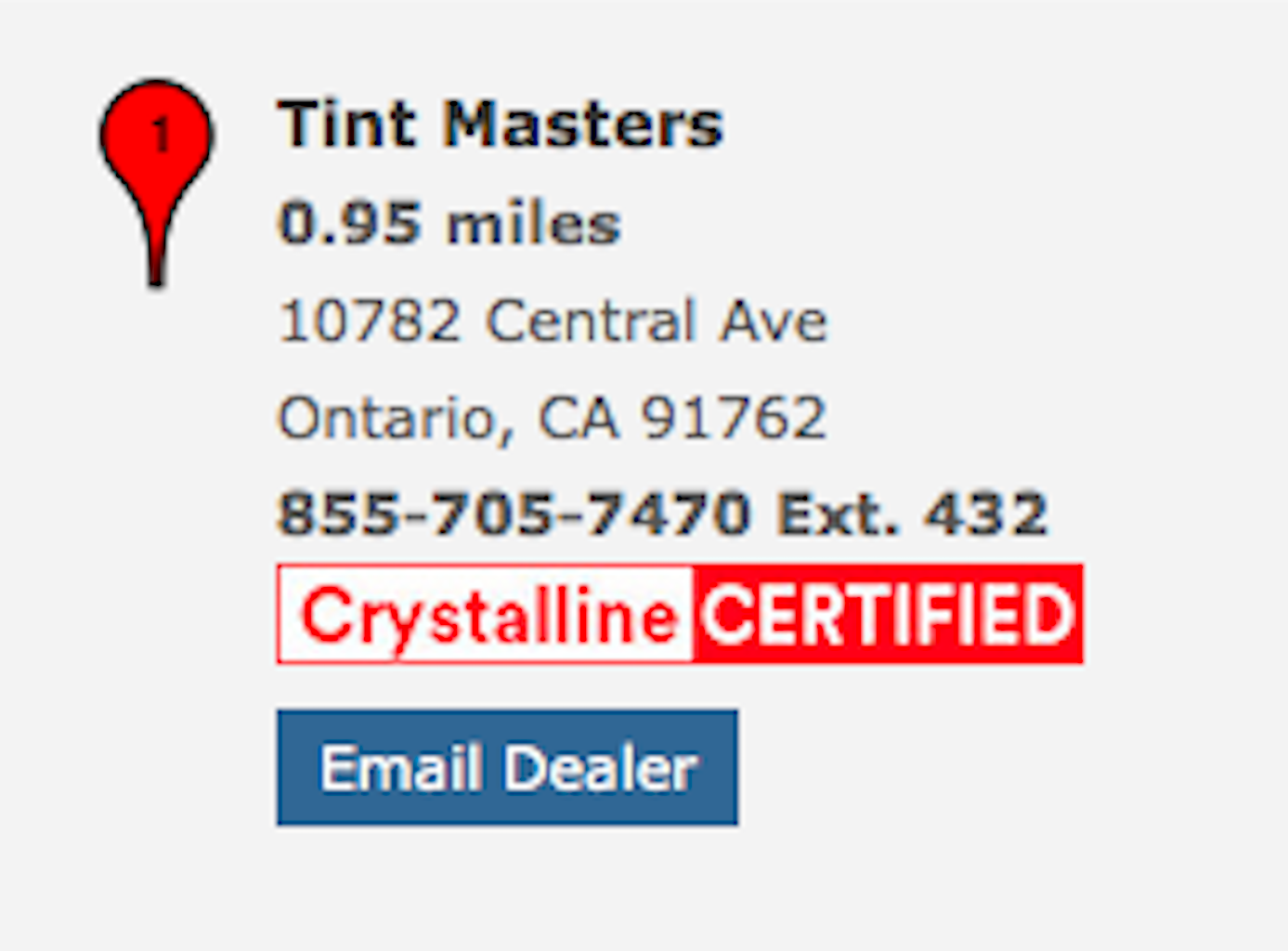 We are your premier Crystalline Certified 3M Authorized Dealer!